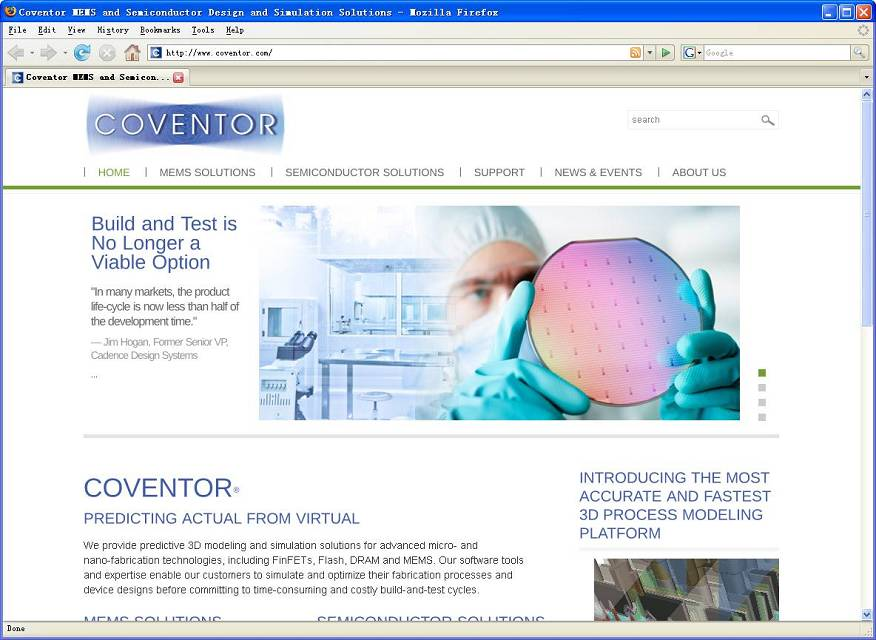 Coventor MEMS Design Tools